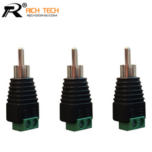 3pcs/lot CCTV Phono RCA Male Plug TO AV Terminal Connector Video AV Balun International Standard