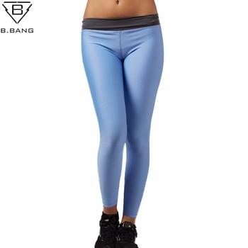 B. BANG Fitness Yoga Pantalon Femmes Sport Leggings de Course Pantalon Femme Sport pour Fitness Jogging Femme Deportivas Mujer