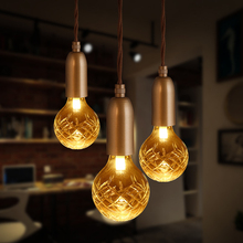 Loft Retro Golden Lighting Modern E27 LED Crystal Glass Pendant Light G9 Coffee Shop Clothing Store Decoration Lamp Lights(China)