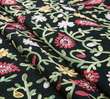 Knited floral couture fashion fabric, paisley flower, jacquard floral, sew for top, coat, dress, pants, craft by the yard