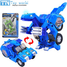 2017 Toboly transformation Robocar cars toy 14cm Korea cartoon animation Tobote Robot vehicle toys for children best gifts set(China)