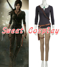 High Quality Lara Croft Costume Tomb Raider Lara Croft Costume Halloween Christmas Game Cosplay Adult Women Cosplay Costume
