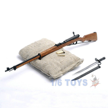 "1/6 Scale Japan Mini Metal Toy Gun Weapon Model Toys WWII Soldier Arisaka Ti-Lite T8007 38 Rifle Kids Toys F12"" Action Figure"