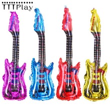 85*30cm Guitar Foil Balloon Classic Kid Toy Inflatable Helium Aluminum Air Ball Wedding Decoration Happy Birthday Party Supplies(China)