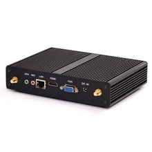 Fanless mini PC X86 Windows 10 Quad Core Celeron J1900 industrial Nettop Ubuntu Android HDMI VGA HTPC TV Box 2955u mini computer(China)