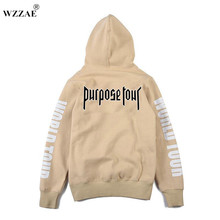 Buy Justin Bieber Purpose Tour Print Hoodie Men Hip hop Streetwear Fleece Cotton Pullover WORLD TOUR Special Sweatshirt Women S-XXL for $16.79 in AliExpress store