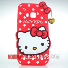 For HTC One M9 Case 3D Lovely Cute Hello Kitty Kt Cat Silicon Back Case Soft Cover Phone Case