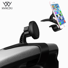 XMXCZKJ Universal Car Holder Mobile Phone 360 Degree Magnetic Phone Car GPS Holder For iPhone Samsung Xiaomi Magnet Mount Holder(China)