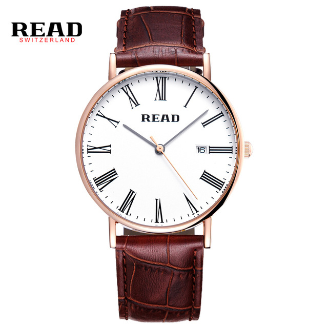 READ men watch Luxury Genuine Calf Leather ultrathin Lovers Watches Business And Casual Quartz Wristwatch With Auto Date 2021<br><br>Aliexpress