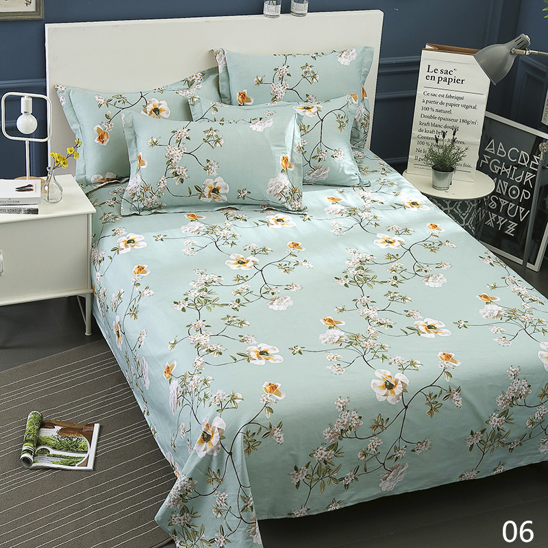 100% Cotton Modern Fashion Bed Flowers Flowers And Trees Printing Pattern 3pcs Bed Sheets Pillowcase Large Size 230x250cm 9