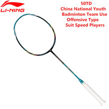 Li-Ning PM Ball Control 50TD Professional Badminton Rackets AYPK094/AYPK082 Li Ning 3U Racquet Sports With 1 pcs Free Overgrip(China)