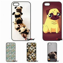 For Huawei Ascend P6 P7 P8 P9 Lite Y5 Y6 II Honor 4C 5C 6 5X G8 Mate 8 7 9 Cute Happy Funny Toy Dog Pug Cell Phone Case Cover