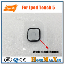 Best New Home Button Key With Gasket Round For Ipod Touch 5 5th Gen Repair Parts Black White(China)