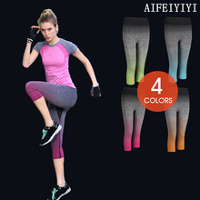 Autumn 2017 Women High Elastic Breathable quick dry compression Capri pants thermal underwear Stretch Anti-microbial long johns