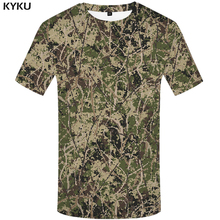Buy KYKU Brand Camouflage T shirt women forest T-shirt Bark Tshirt top tees 3d t-shirt animal t-shirts Womens clothing funny for $6.89 in AliExpress store