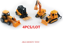 4Pcs/Set Alloy Engineering Car Set Alloy Engineering 4pcs Set Excavator Stacker High Truck Crane Tractor Model Toy