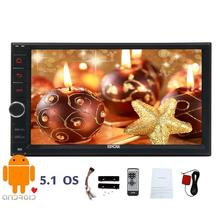 Double Din Car Stereo Android 5.1 GPS Multimedia 2din automotive vehicle Car Radio with Navigation Bluetooth Wifi +Backup Camera(China)