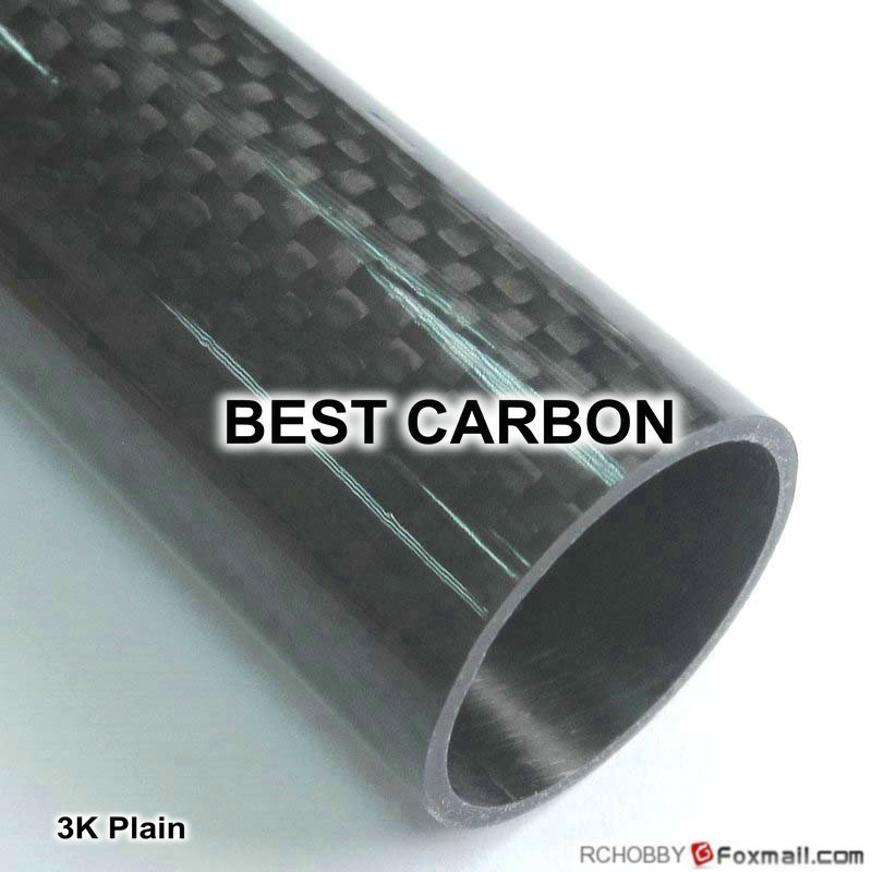 OD31mm x ID28mm x 1000mm High quality 3K Carbon Fiber Plain Fabric Wound/Winded/WovenTube,spear gun tube<br>