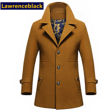 New Wool & Blends Men  Wools Coat Mens Fashion Jacket Men Overcoat Jaqueta Masculina Casaco Homme Plus Thick Warm Trench Coat 41