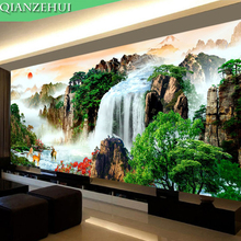QIANZEHUI,Needlework,DIY Precision printing Landscape painting Cross stitch,rising sun Sets For Embroidery kits Cross-Stitch(China)