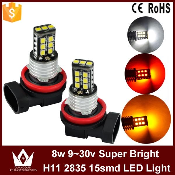 Guang Dian 10pcs - 100pcs whole sale Factory price h11 fog light fog lamp foglight for universal car led 2835 chip 8w 9-30v<br>