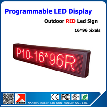 Outdoor advertise led screen display change English language P10 led display panel 16*96 dots outdoor led sign board