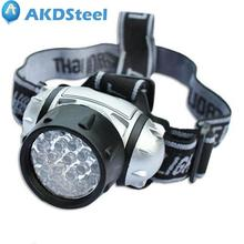 AKDSteel 19 LEDs High Intensity Green Head Light Hydroponics Horticulture Grow Room Headlamp 4 Modes AAA 1.5V Batteries zk40(China)