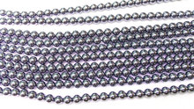 Genuine Teyaheytz Magnetic gemstone round ball gunmetal jewelry beads 4-12mm full strand
