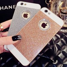 Bling Bling Fashion Luruxy For Apple iPhone 4 4s 5 5s SE 6 6s Plus 7 7Plus Shinning Case Glitter Protector Cell Phone Back Cover