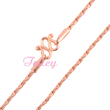 Wholesale Jewelry Small 2mm Long Necklace Rose Gold Filled Chain W Clasp For Man Woman 24inch 18inch