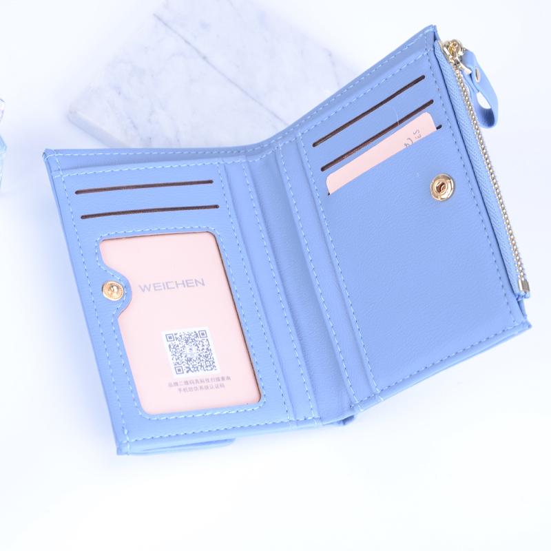 HTB1yaldSVXXXXbxapXXq6xXFXXXC - WEICHEN Hasp & Zipper Short Standard Wallet, Hot Fashion PU Leather Solid Coin Card Purse Wallets For Women Lady Clutch Carteras