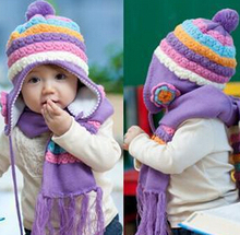 Baby hats, designed for children is the most popular hat, suitable for lovely small princess oh, scarf + hat, very fashionable