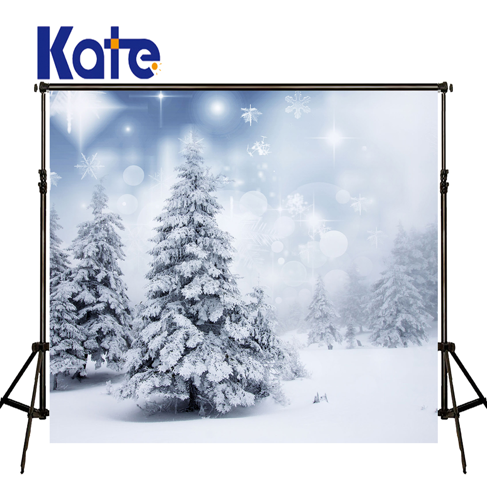 KATE Photo Background White Winter Backdrop Snowflakes Background Snow Scenery Forest Background for Kids Photo Shoot Studio<br>