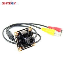 7030 700tvl CMOS color hd board cctv camera cctv mini camera with 3.6mm lens with lens mount with cable  security camera