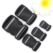 5pcs/lot Side Release Plastic Buckles Slimwaist Backpack/Caming Hiking Straps Webbing(China)