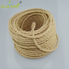 Vintage Rope Textile Wire Twisted Cable Braided Electrical Wire  5M/Lot 2*0.75 Retro Pendant Light Lamp Line Vintage Lamp Cord