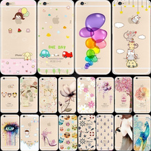 6/6S 22 Design Silicon Phone Back Cases For Apple iPhone 6 6S Painted Case For iPhone6 Cover Skin Shell Free Shipping Popular M