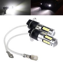 NEW  H3 30 led car light Fog led high power lamp 4014 smd Auto car led bulbs Car Light Source parking 12V 6000K drl white red