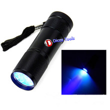 9 purple light led flashlight manufacturers selling UV ultraviolet 365 multi-function yanchao torch flashlight(China)