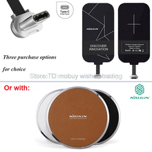 Original Nillkin Type C Qi Wireless Charge USB-C Receiver or with Charger for Xperia XZ/X/compact/Google pixel/Moto Z/Lumia 950