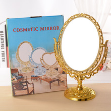 Double-sided Oval mirror  Exquisite Mirrors Girl Wedding Dressing Beauty Mirror Home Table Makeup Fine Rotary Mirrors
