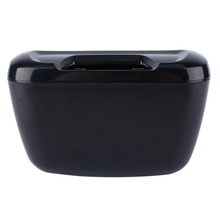 New Arrival Auto Car Vehicle Container Black Environment Easy Hanging Cargo Trash Can Mini Garbage Bin Storage Holder Box