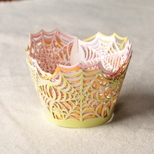 50pcs Spider Web Laser Cut Cupcake Wrapper Liner Baking Cup For Home Baby Shower Wedding Birthday Christmas Party Supplies