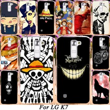 Silicone Plastic Mobile Phone Case For LG K7 LTE Tribute 5 LS675 Q7 LTE MS330 5'' Dual SIM K7 M1 Covers Skull Head Naruto Shell