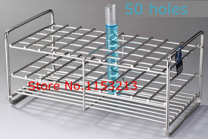 Wire Professional Test Tube Rack Stainless Steel Suitable tube diameter 18mm/19mm/19.5mm/ 50 holes<br>