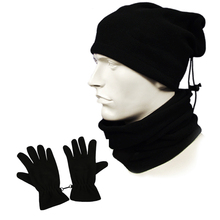 2017 Football soccer training outdoor sports warm set multifunctional neck collar Circle hat riding soccer scarf gloves(China)