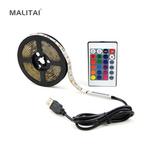 0.5M 1M 2M 3M 4M 5M 5V USB RGB LED Strip light Ribbon 5050 Decor LCD Backlight TV Background lighting Waterproof LED lamp Tape(China)