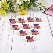 Hot 1PCS Metal American Flag Badge Pin Creative Brooch Tie Badge High Quality(China)
