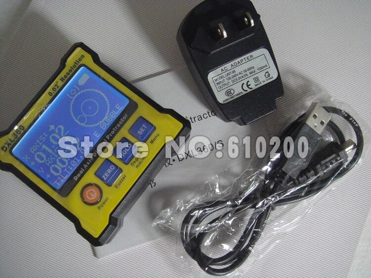 FreeShipping Upgrade High precision LCD Mini Digital Protractor Inclinometer Dual Axis Level measure box Angle ruler 0.02 Degree<br><br>Aliexpress