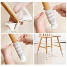 4 Pcs/set Knit Home Flower Floor Protector Leg Sleeve Table Chair Foot Cover Socks